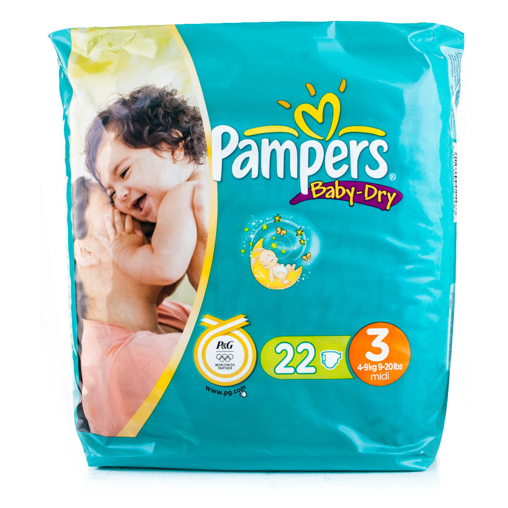pampers baby dry midi nappies chemist direct. Black Bedroom Furniture Sets. Home Design Ideas