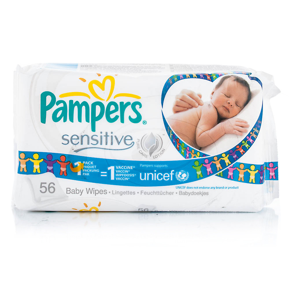 Pampers Sensitive Baby Wipes 56