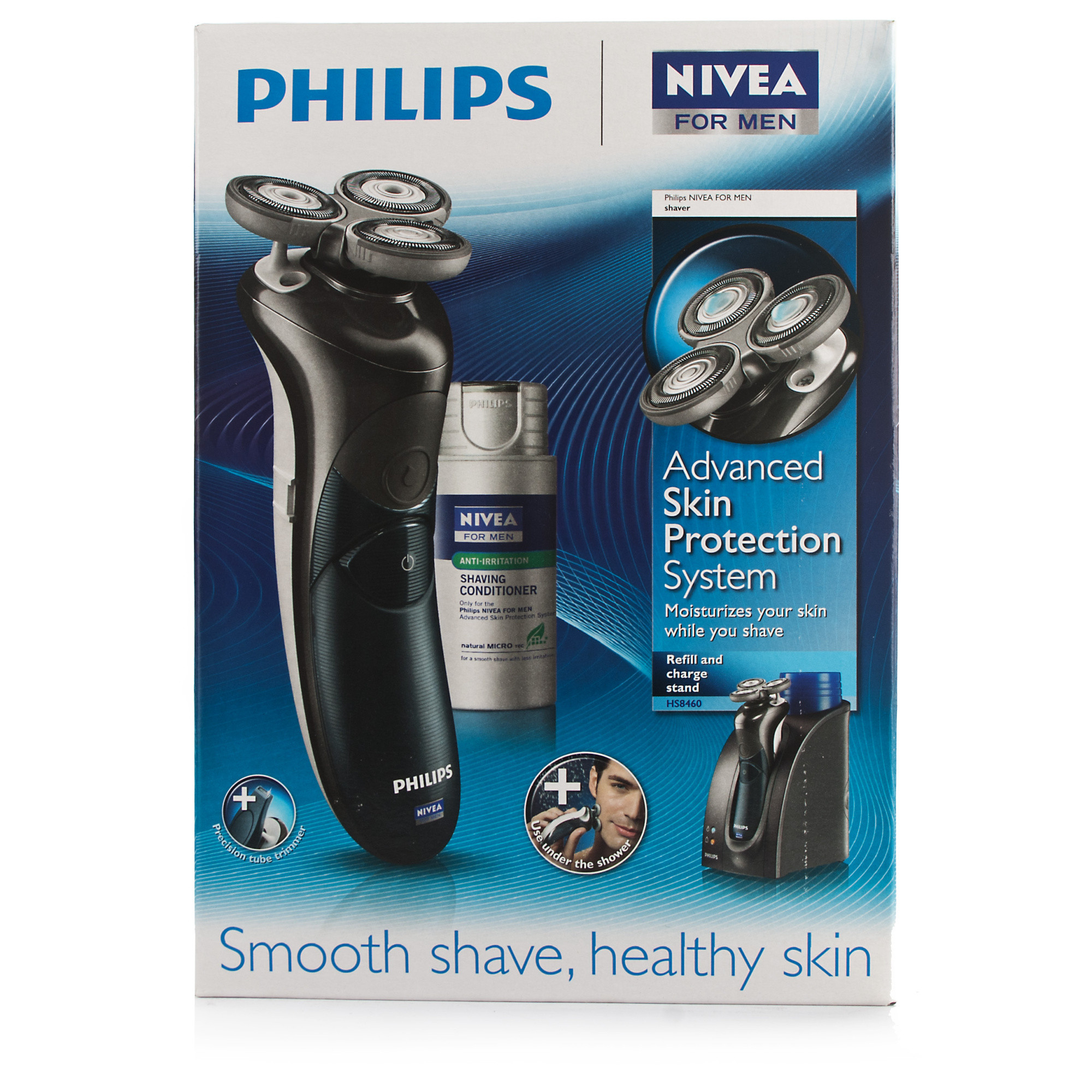 philips cool skin shaver with nivea station chemist direct. Black Bedroom Furniture Sets. Home Design Ideas