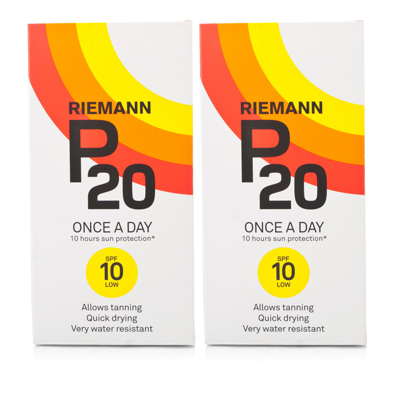 Riemann P20 Once A Day Sun Filter SPF10 Twin Pack