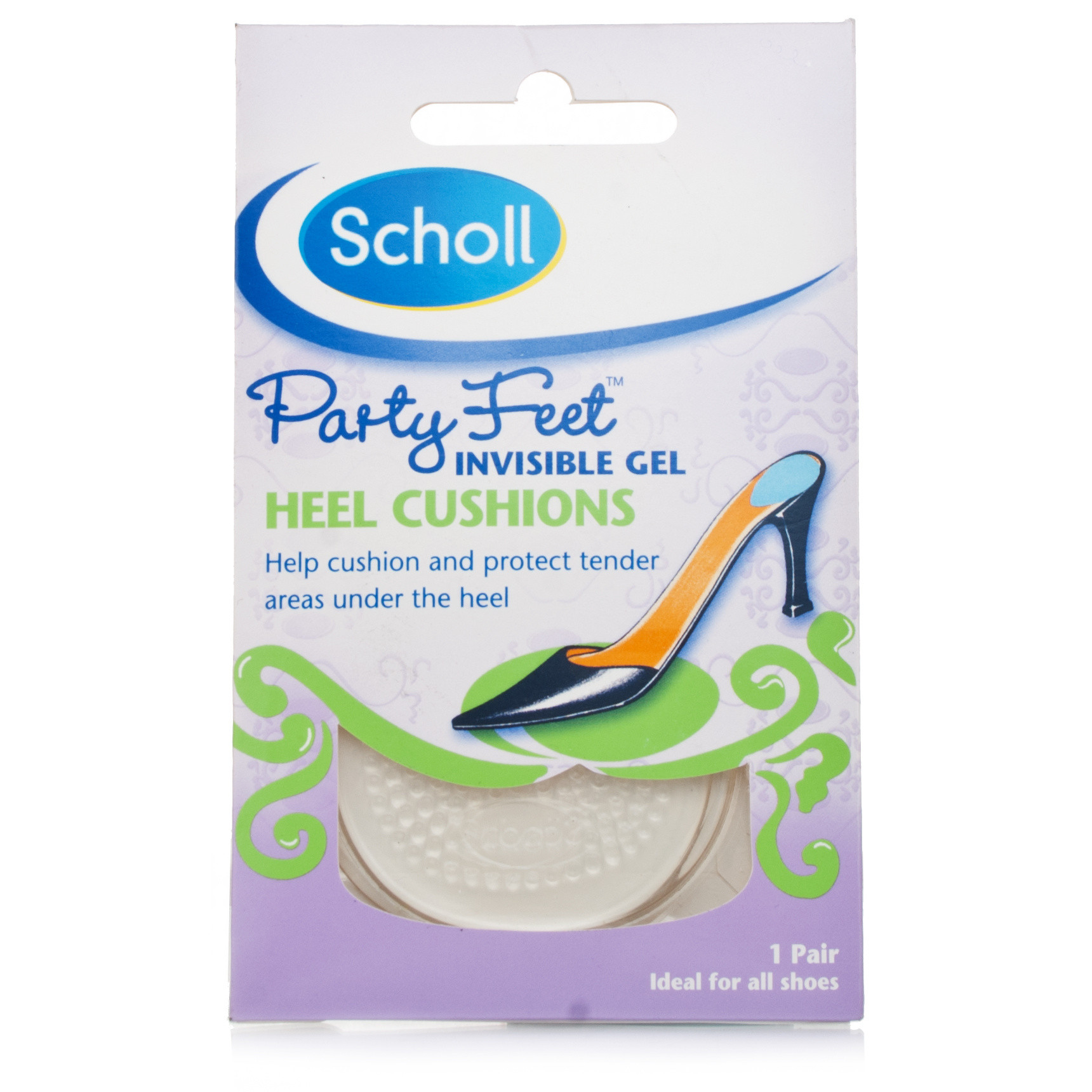 Scholl Party Feet Gel Heel Cushions