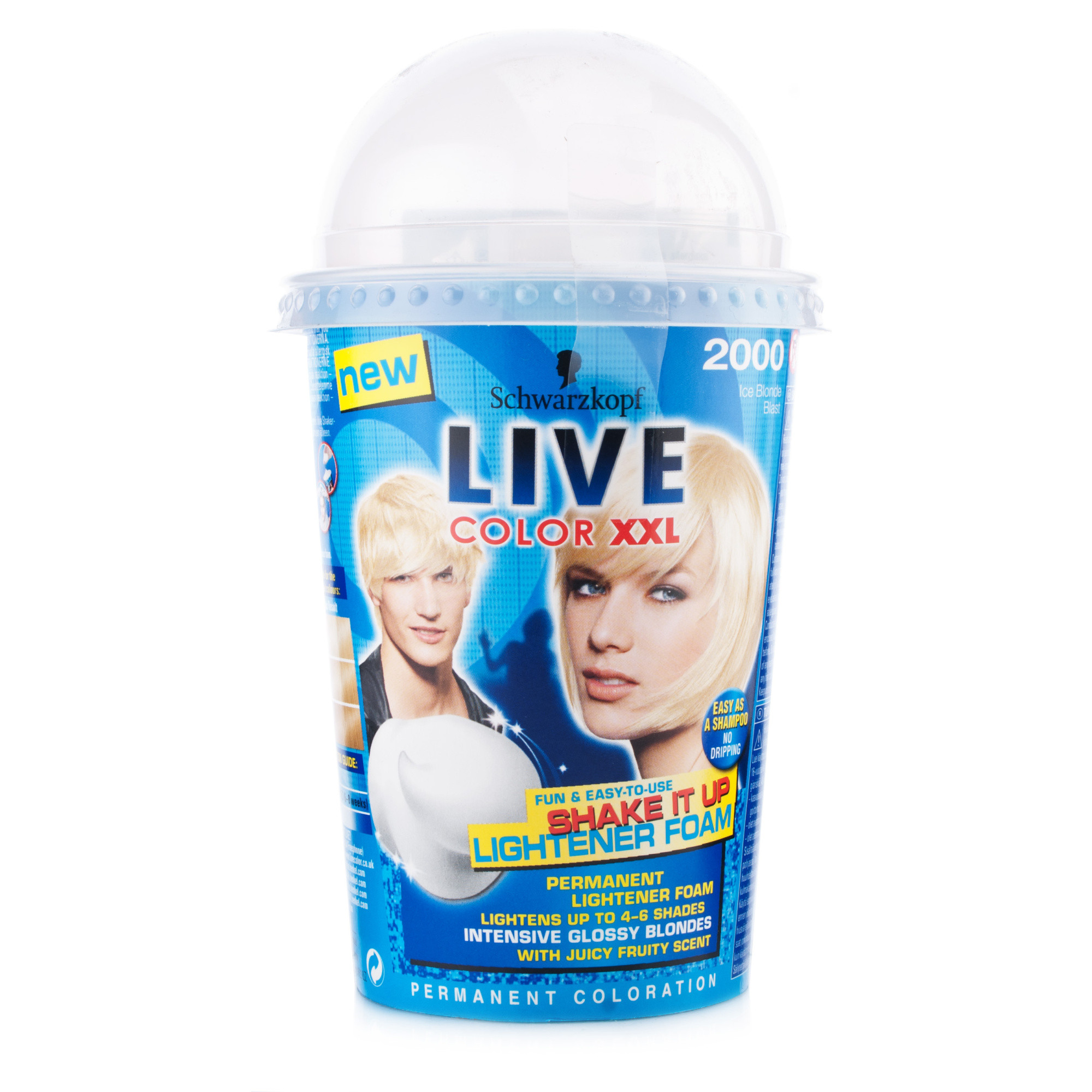 Schwarzkopf Live Colour XXL Shake It Up Foam 2000 Ice Blonde Blast