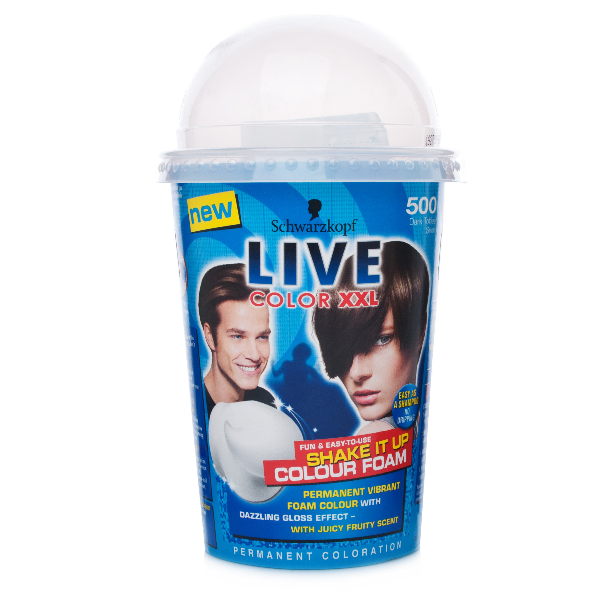 Schwarzkopf Live Colour XXL Shake It Up Foam 500 Dark Toffee Swirl