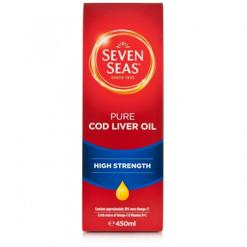 Seven Seas High Strength Pure Cod Liver Oil With Omega 3 Liquid