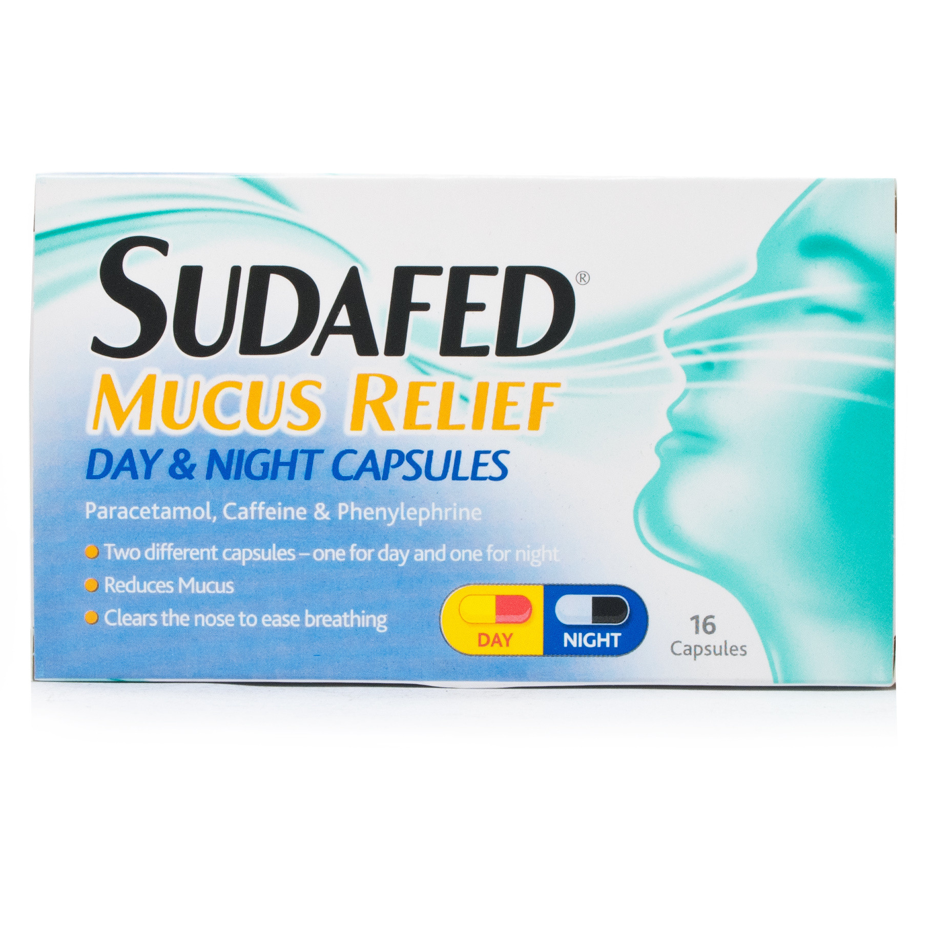 Sudafed Mucus Relief Triple Action Cold & Flu Tablets