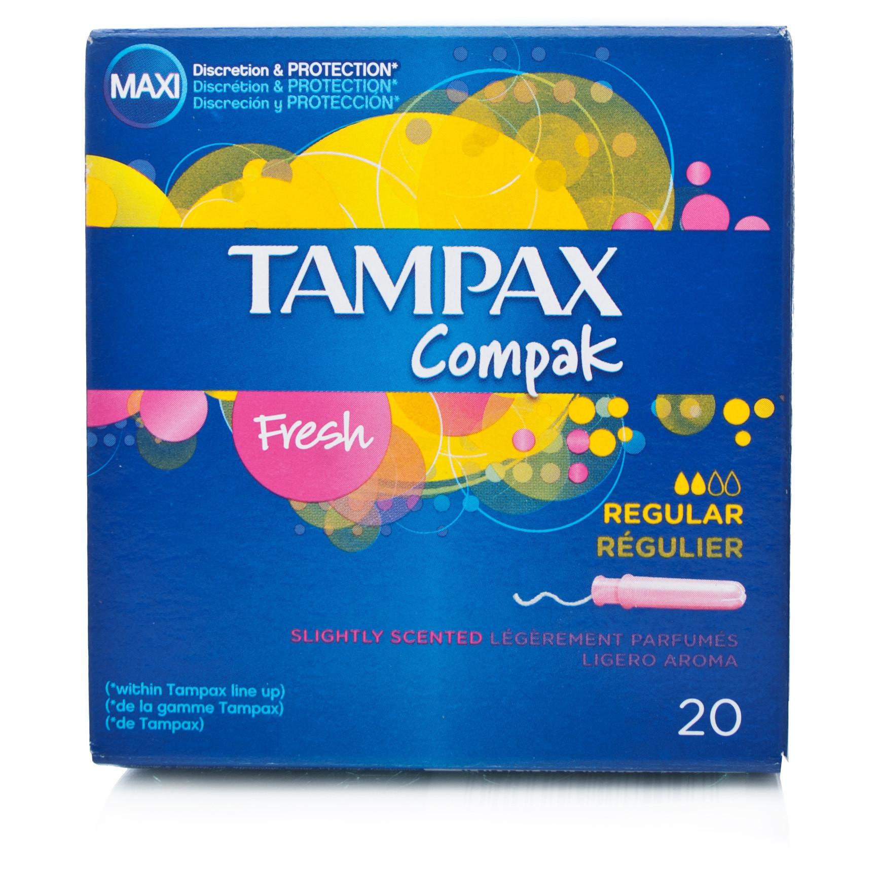 Tampax Compak Freshness Regular Tampons