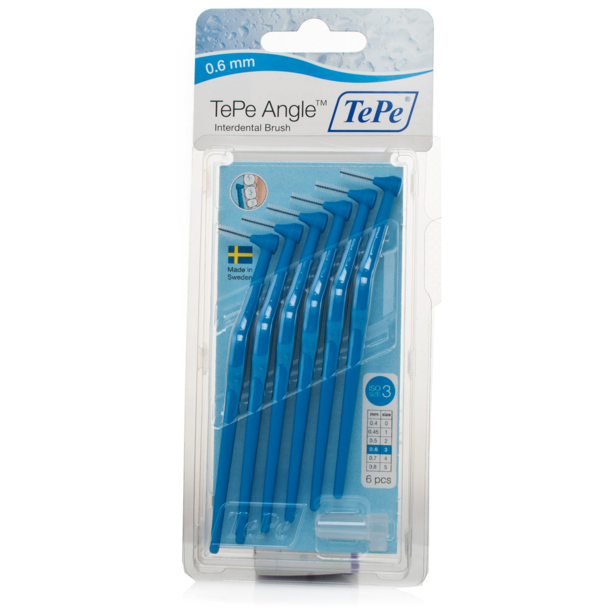 Tepe Angled Interdental Brush Blue