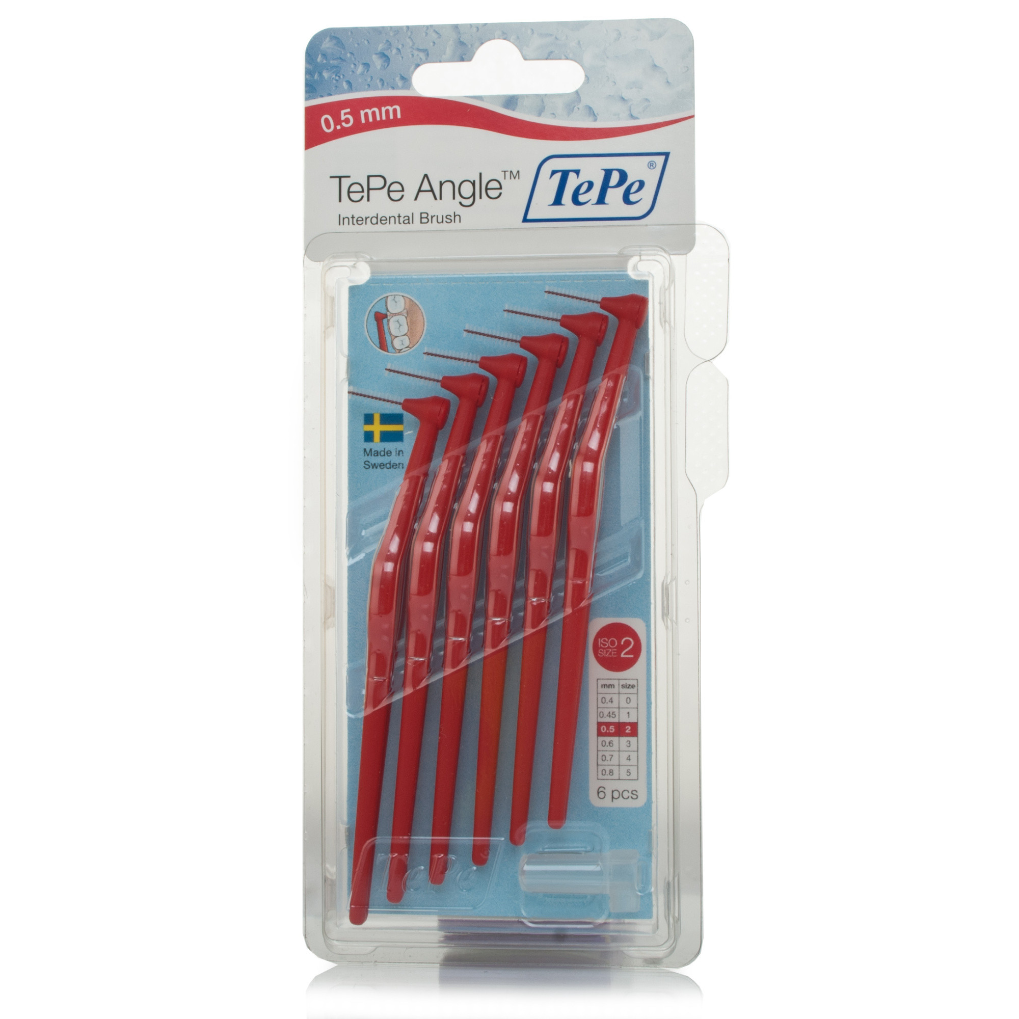 Tepe Angled Interdental Brush Red