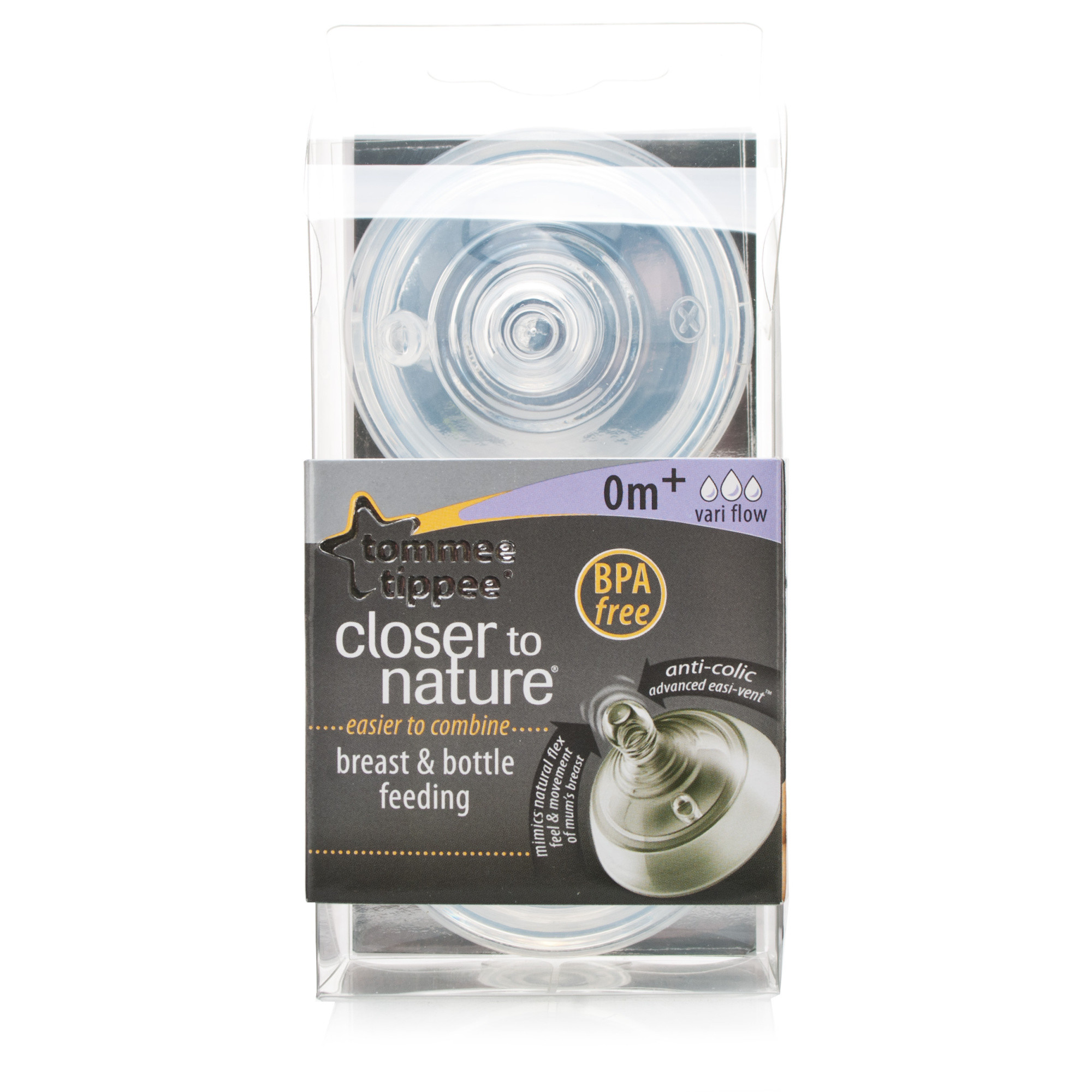Tommee Tippee Closer to Nature Easivent Teats Vari-Flow