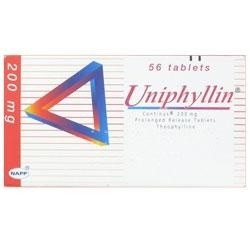 Uniphyllin Continus Tablet 200mg - Prescriptions - £0.07