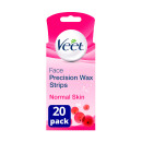Veet Ready to Use Facial Wax Strips for Normal Skin