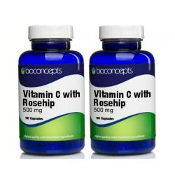 Vitamin C With Rosehip Tablets 500mg Twin Pack