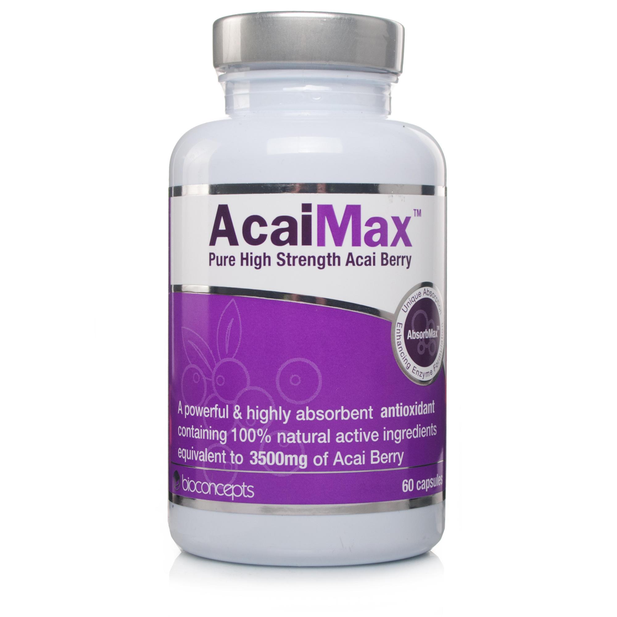 Stockists of AcaiMax Pure High Strength Acai Berry