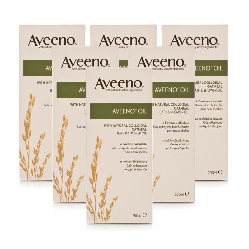 Aveeno Oil Bath & Shower Oil 250ml  6 Pack
