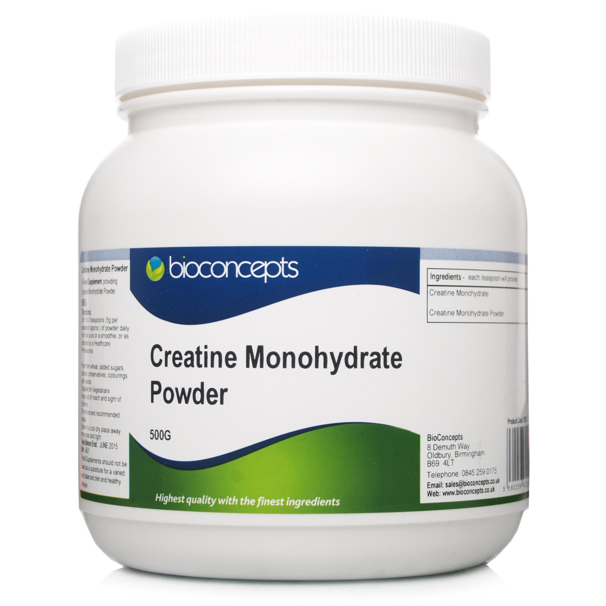 Bioconcepts Creatine Monohydrate Powder 500g