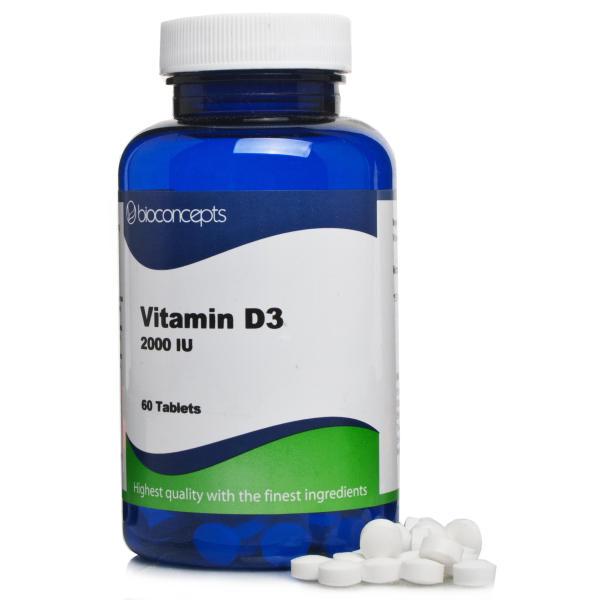 Bioconcepts Vitamin D3 2000 IU Tablets
