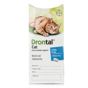 Buy Drontal Worming Tablet For Cats Chemist Direct