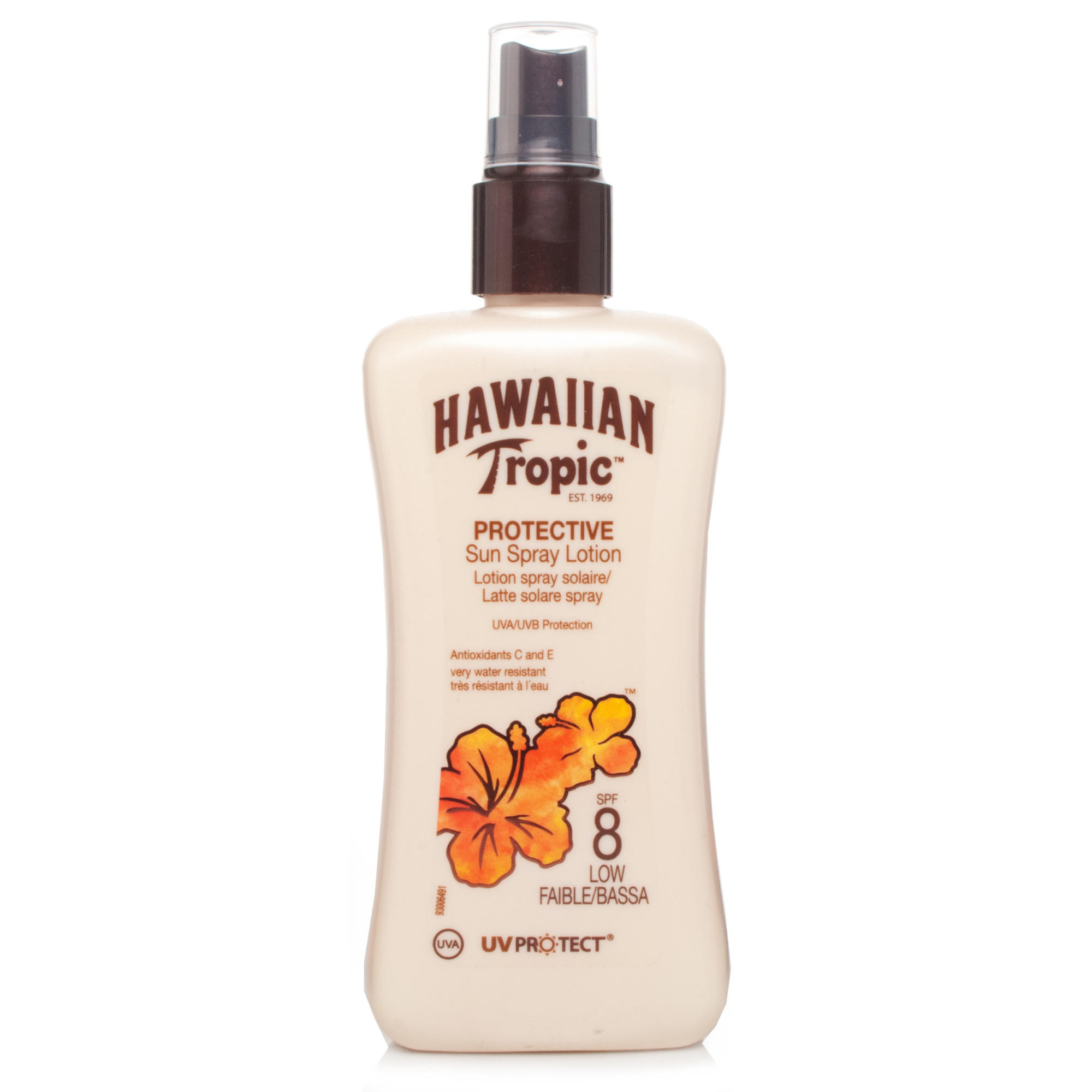 Hawaiian Tropic Satin Protection Sun Spray Lotion SPF8 200ml
