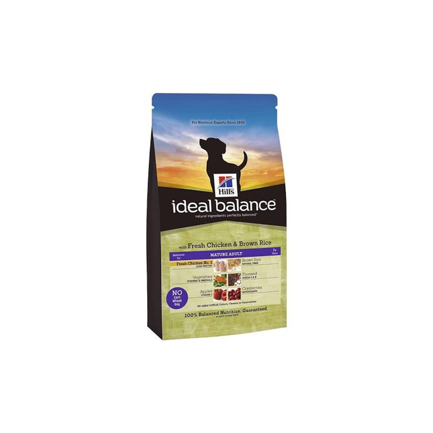 Hills Ideal Balance Canine Mature Adult With Fresh Chicken And Brown Rice