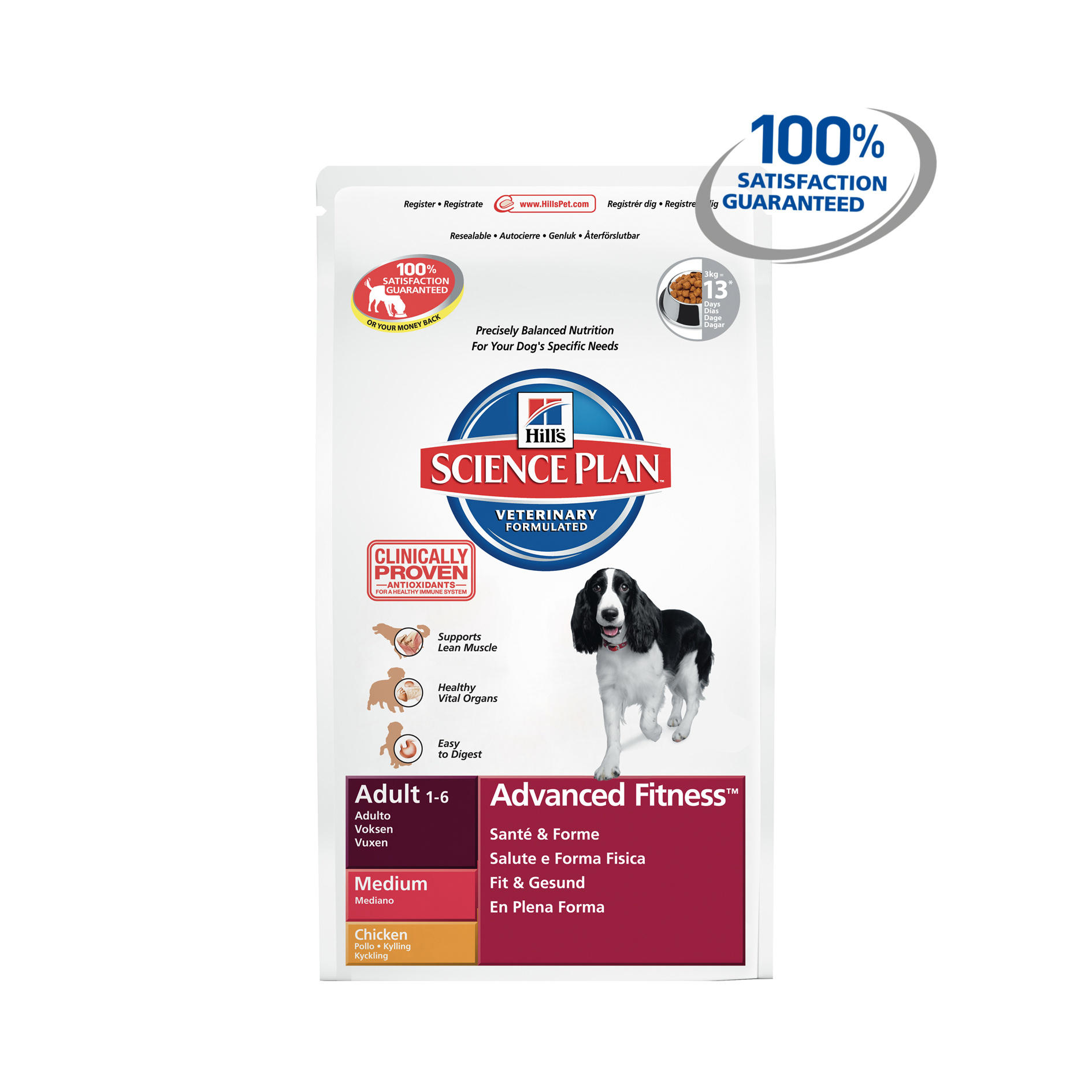 Click to view product details and reviews for Hills Science Plan Canine Adult Advanced Fitness Medium With Chicken.