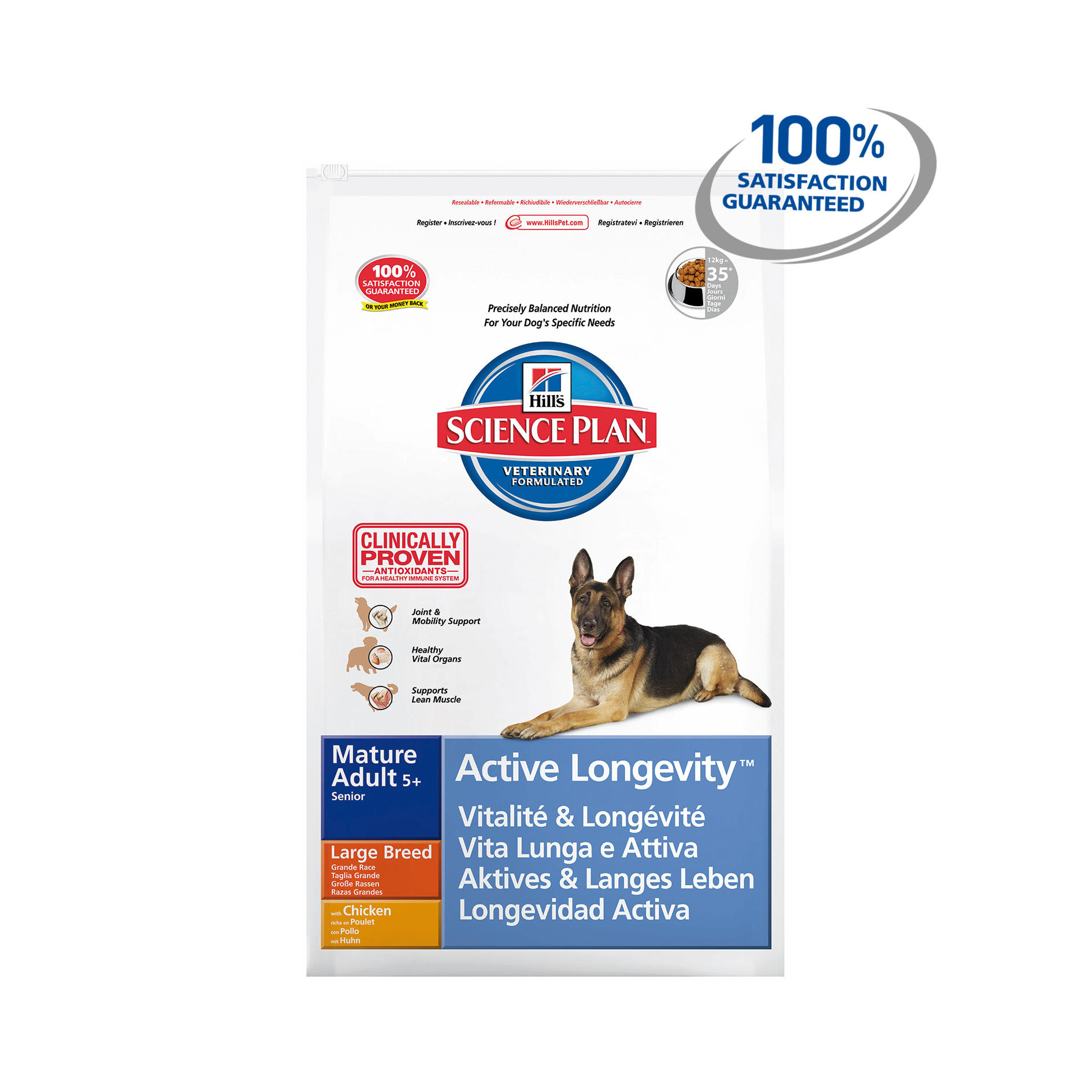 Hills Science Plan Canine Mature Adult 5 Active Longevity Large Chicken