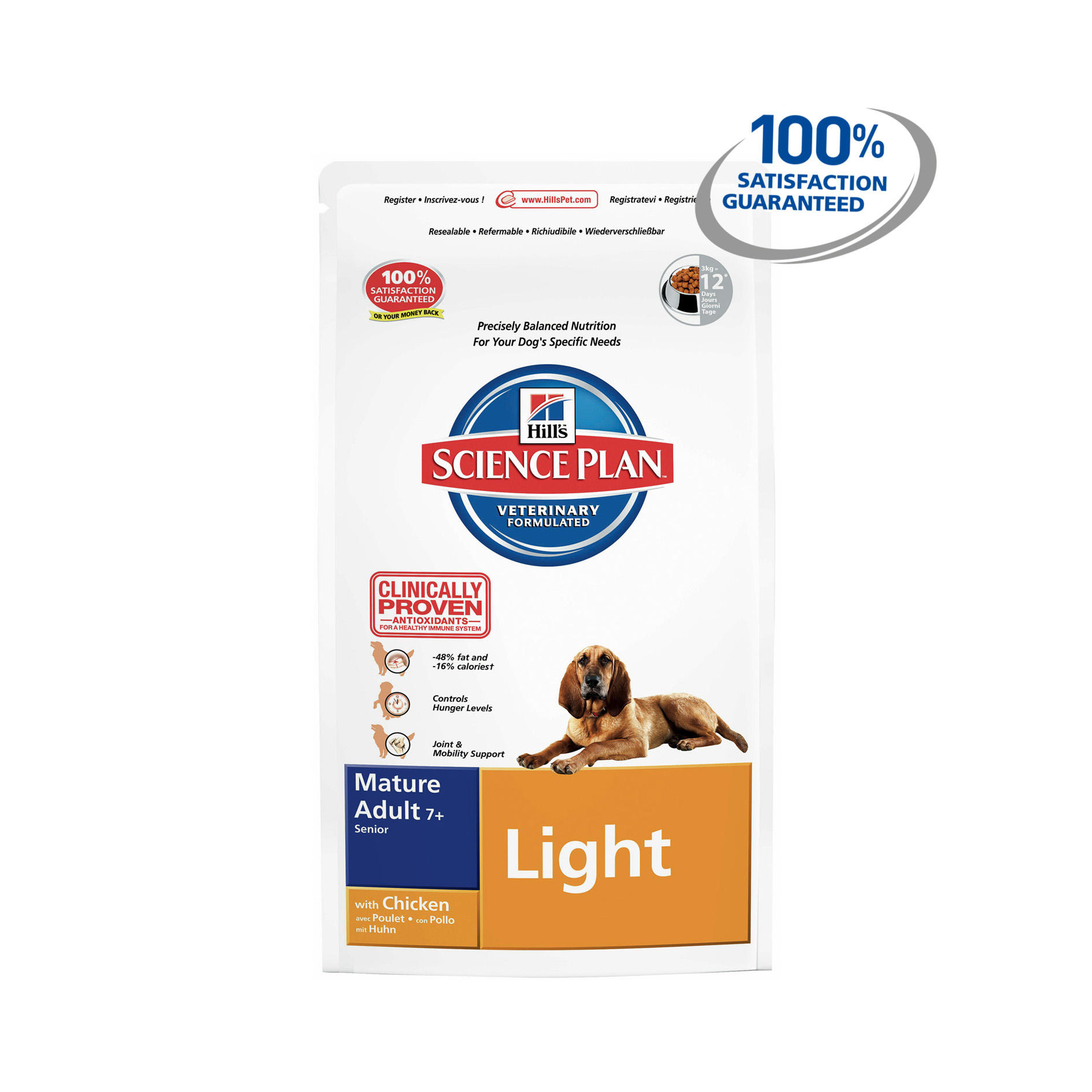 Hills Science Plan Canine Mature Adult 7 Light Medium With Chicken