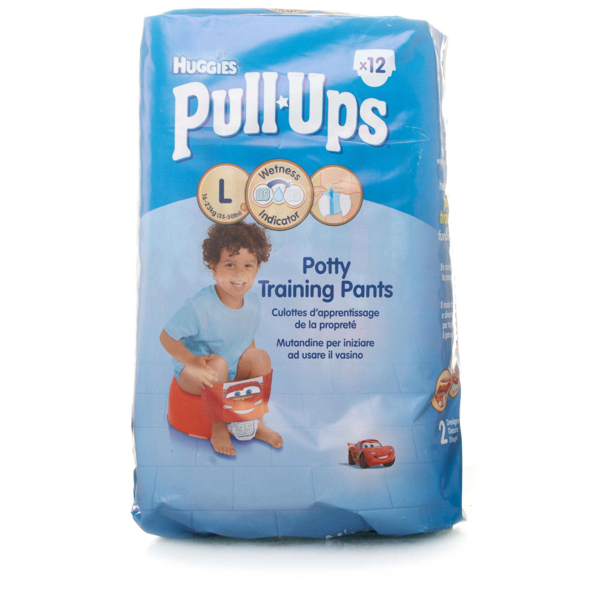 Help make your potty training experience easier* with Pull-Ups Learning Designs training pants. With great coverage, soft and stretchy sides, and zoned protection, Pull-Ups training pants give your child a comfortable fit and all-around protection, day and night.