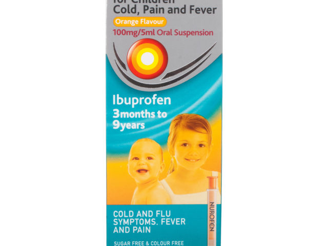 Nurofen For Children Cold Pain and Fever Relief Orange 100ml