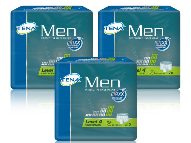 TENA MEN Protective Underwear Level 4 Triple Pack