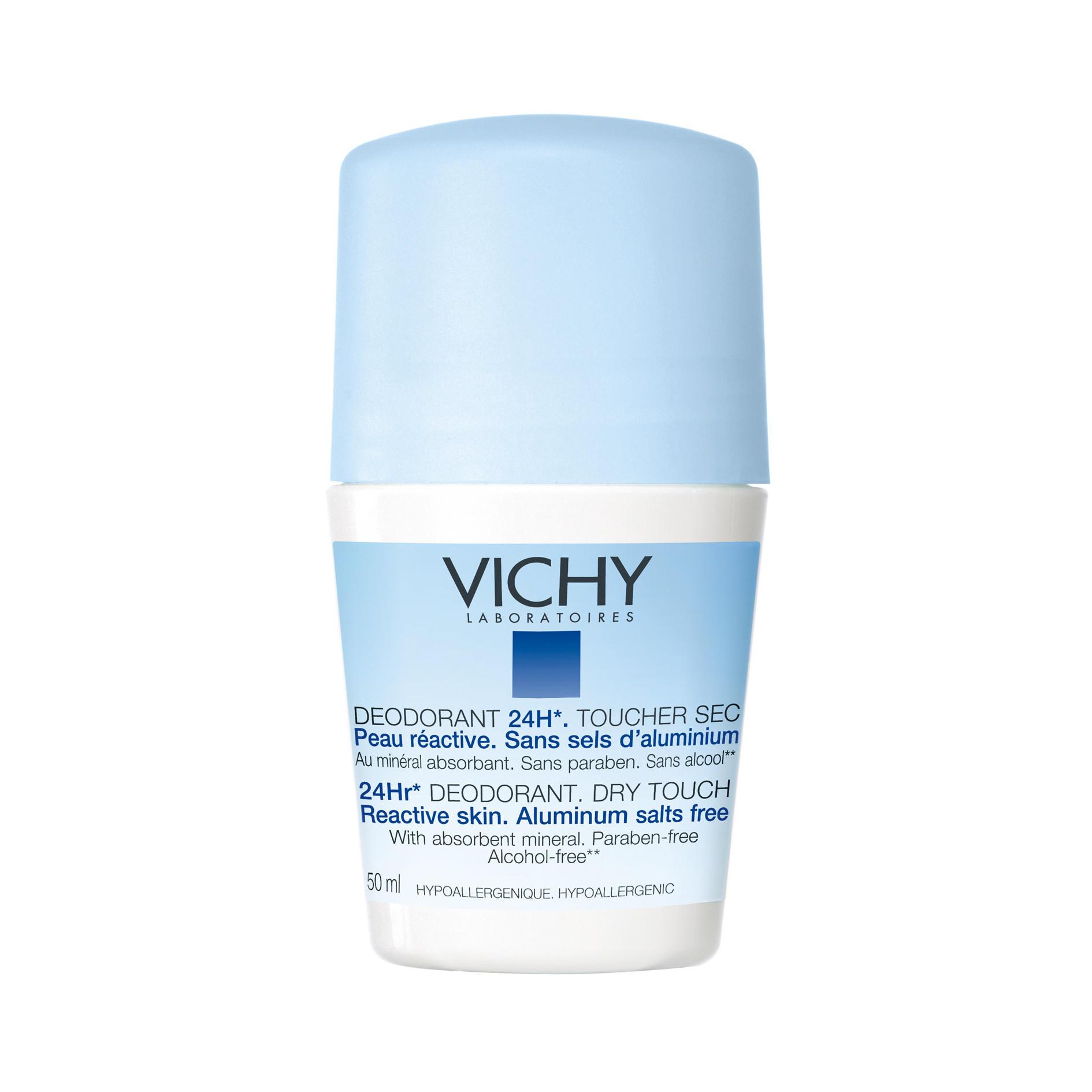 vichy deodorant 24 hour aluminium salt free roll on chemist direct. Black Bedroom Furniture Sets. Home Design Ideas