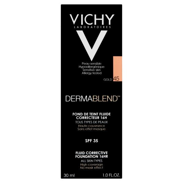 Vichy Dermablend Corrective Foundation Shade 45 Gold with SPF35
