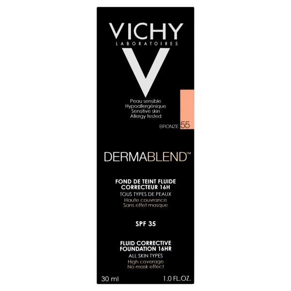 Vichy Dermablend Corrective Foundation Shade 55 Bronze with SPF35