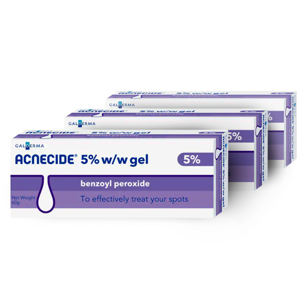 Acnecide 5% W/W Gel - 3 Pack