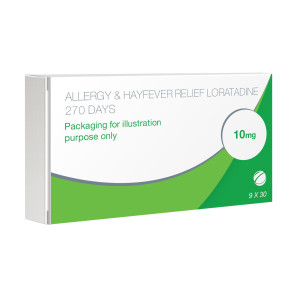 Allergy & Hayfever Relief Loratadine - 9 Pack