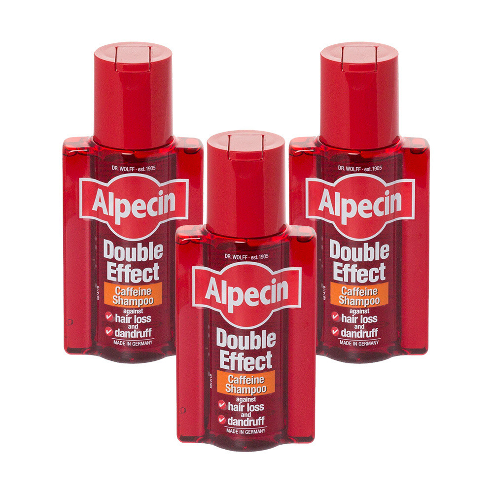 Alpecin Double Effect Caffeine Shampoo Triple Pack