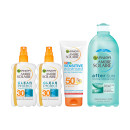 Ambre Solaire Family Pack Summer Sun 4 Piece Protection Gift Set SPF30 & 50