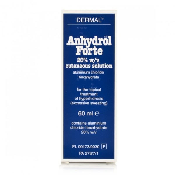 Anhydrol Forte Roll On 20% w/v Cutaneous Solution