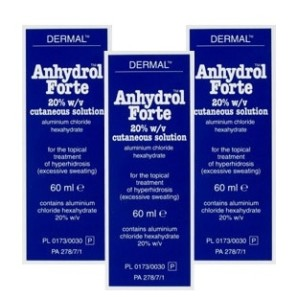 Anhydrol Forte Roll On 20% W/v Cutaneous Solution - Triple Pack