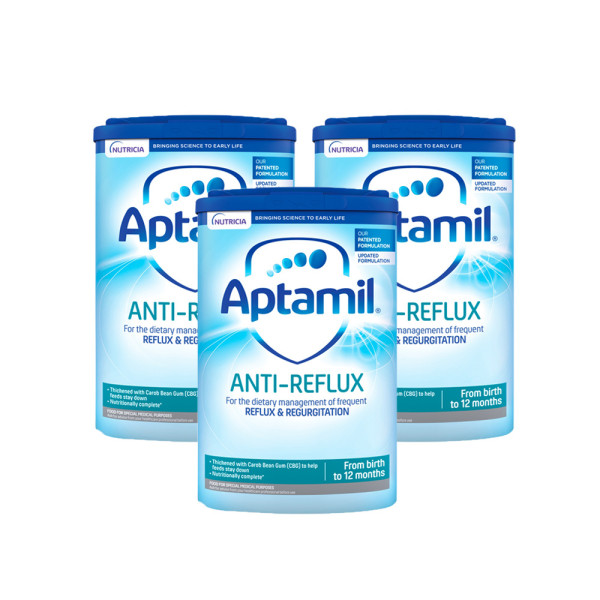 Aptamil Anti-Reflux Baby Milk Formula From Birth Triple Pack