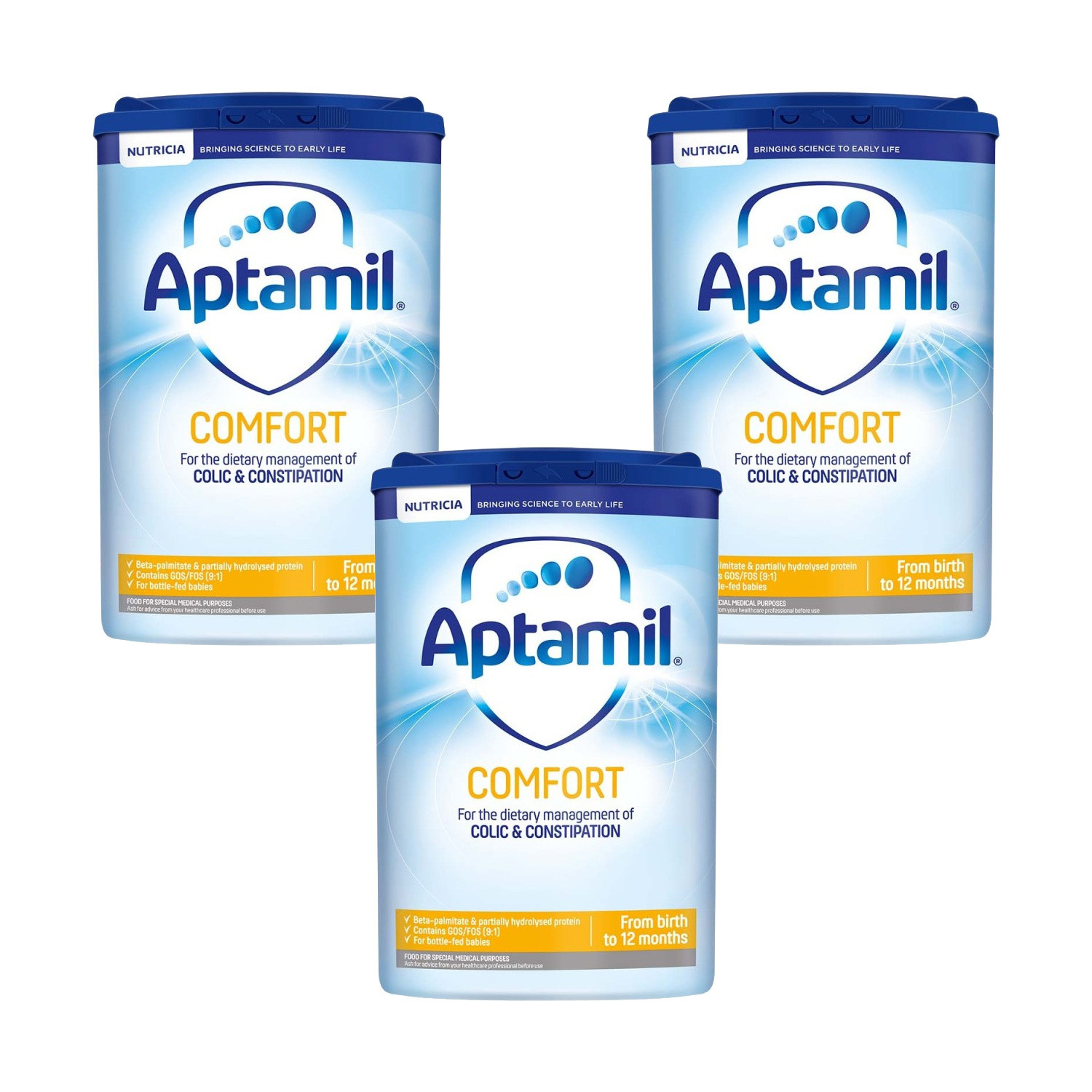Click to view product details and reviews for Aptamil Comfort Formula Powder Triple Pack.