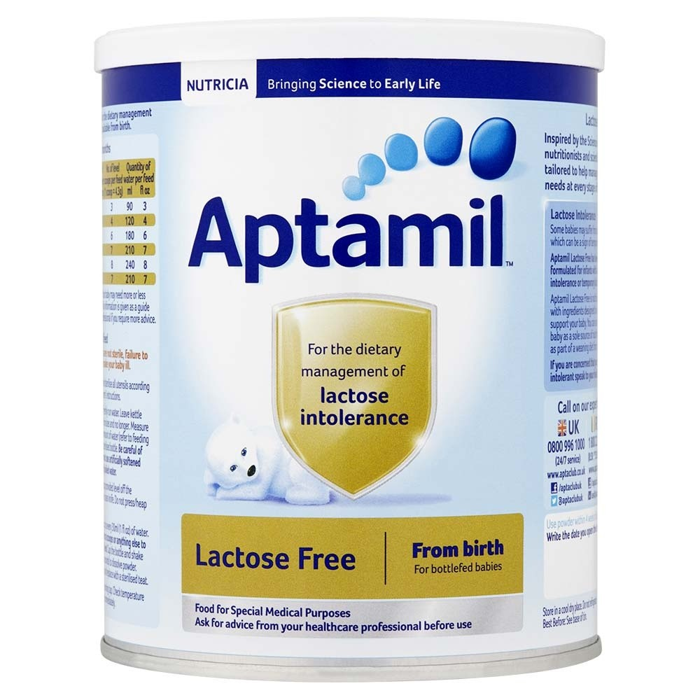 Click to view product details and reviews for Aptamil Lactose Free Milk Powder.