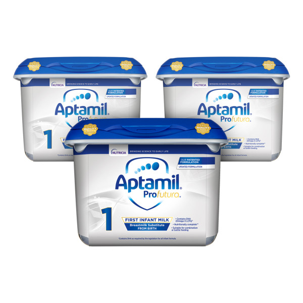 Aptamil ProFutura 1 First Baby Milk Formula From Birth Triple Pack
