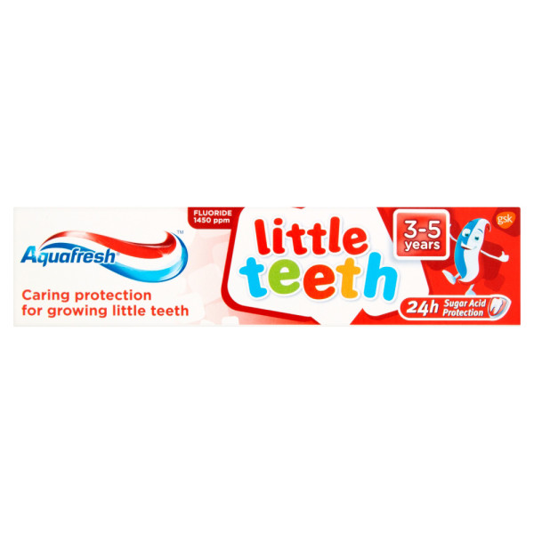 Aquafresh Little Teeth Toothpaste 3 - 5 Years. Mild Minty.