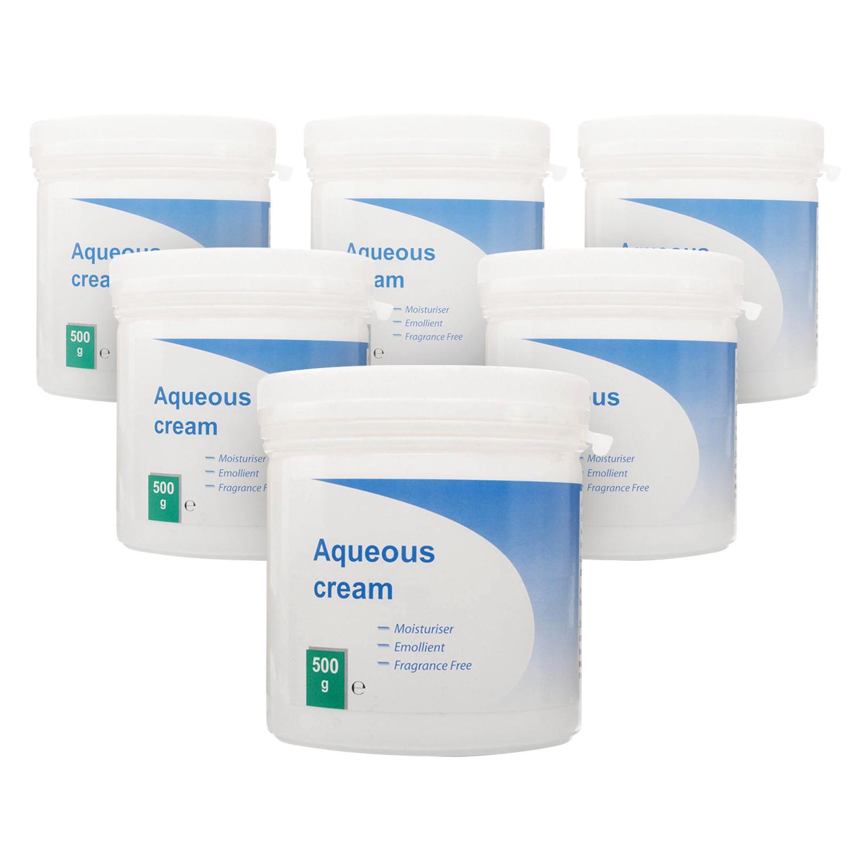 Aqueous Cream BP 500g x 6