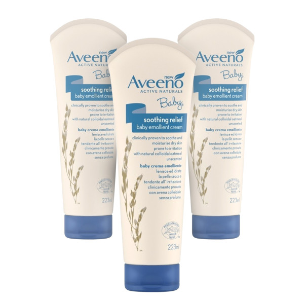 Aveeno Baby Soothing Relief Emollient Cream - 3 Pack