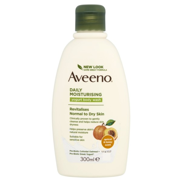 Aveeno Daily Moisturising Yogurt Body Wash With Apricot & Honey