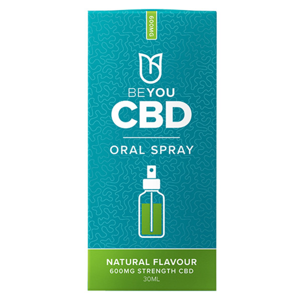 BeYou CBD Oral Spray with MCT Oil 600mg Natural, Flavour