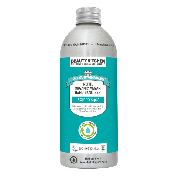 Beauty Kitchen The Sustainables Organic Vegan Hand Sanitiser Spray Refill Bottle