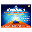 Beechams Max Strength All In One Cold and Flu Relief Capsules 16s
