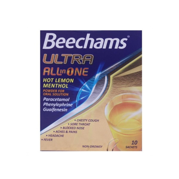 Beechams Ultra All In One Sachets Hot Lemon Menthol